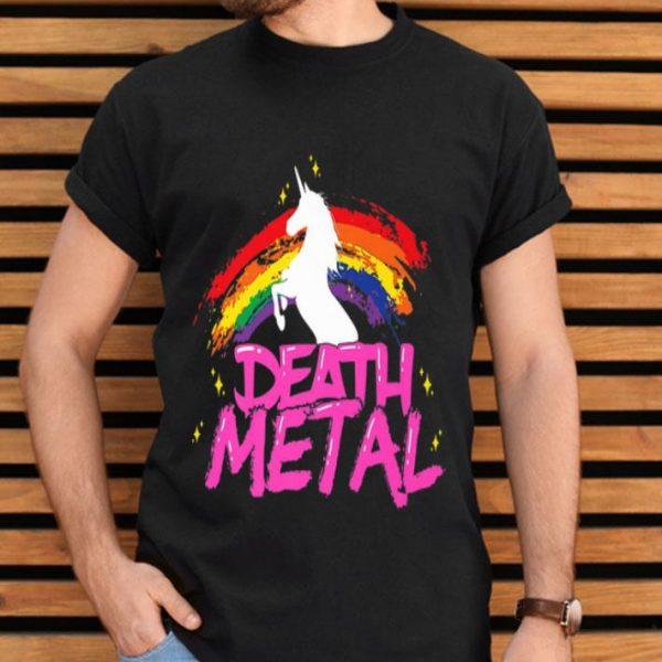 Death Metal Unicorn Rainbow Pride Heavy Metal shirt