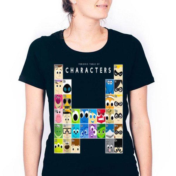 Disney Pixar Movie Characters Periodic Table shirt