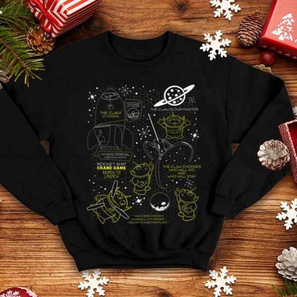 Disney Pixar Toy Story Alien Claw Hive Master Map Bee Hive shirt