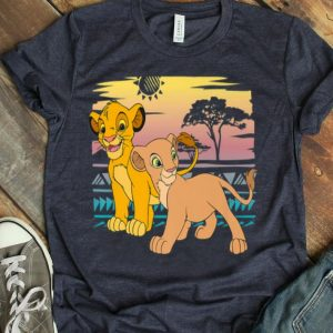 Disney The Lion King Young Simba Nala Sunset View shirt
