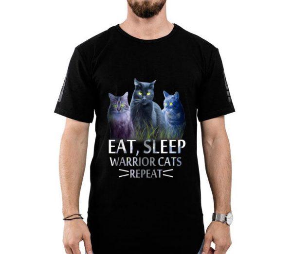 Eat Sleep Warrior Cats Repeat Cat Lover shirt