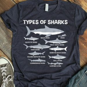 Educational Ocean Types Of Sharks And Their Size shirt