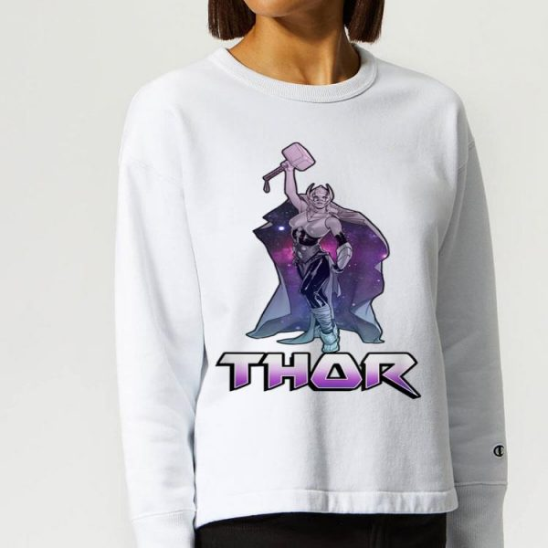Female Thor Celestial Hammer In Air shirt