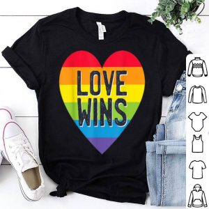 Gay Pride Love Without Limits Love Wins Rainbow Heart LGBT shirt