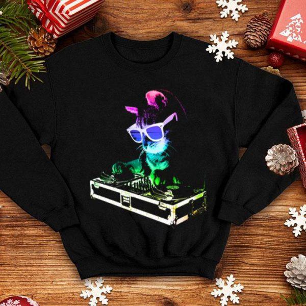 House Cat Rainbow DJ Kitten Make Music For The Feeling shirt