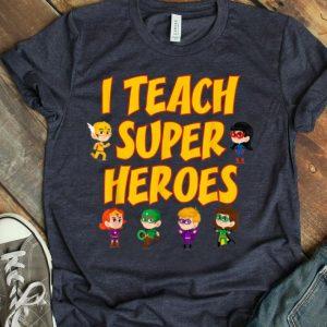 I Teach Superheroes Chibi Supperheroes Teacher Appreciation Day shirt
