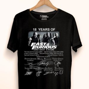 Jamila 18 Years Of Fast And Furious 2001 2019 9 Films Signature shirt