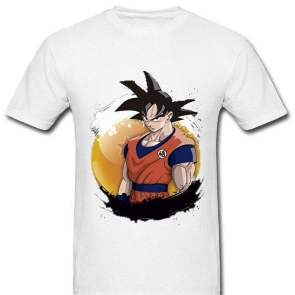 Just Goku Dragon Balls Black And White Shape Of Goku shirt