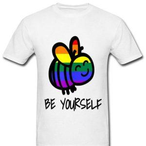 LGBT Bee Yourself Rainbow Bee Pride shirt