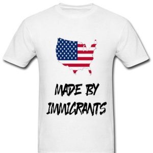 Made By Immigrants American Map Flag shirt