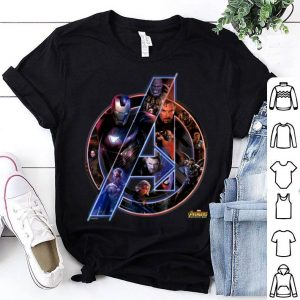 Marvel Avengers Infinity War Neon Team Graphic Iron Man Captian Thor shirt