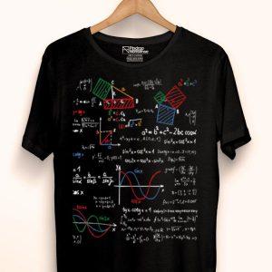 Math Teacher Formulas Cheat Sheet Cool Geek Nerd shirt