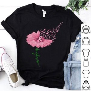Never Give Up Breast Cancer Daisy Flower shirt