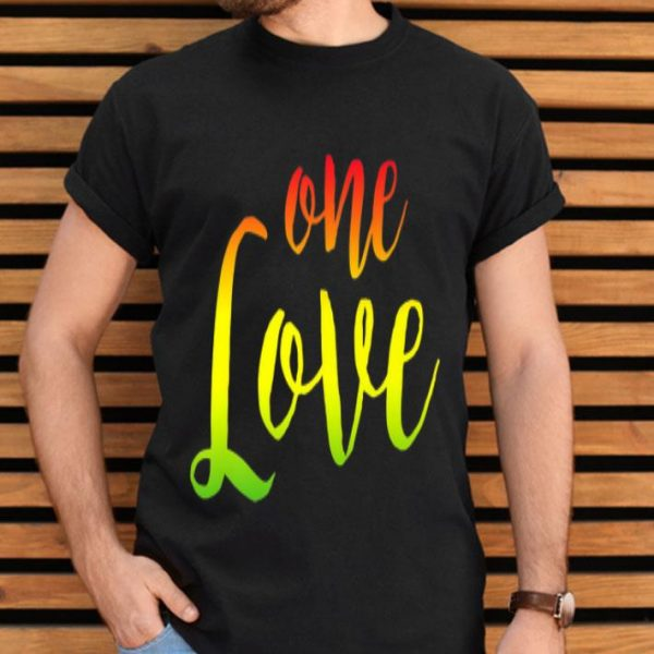 One Love Rasta Reggae Roots Clothing No War shirt