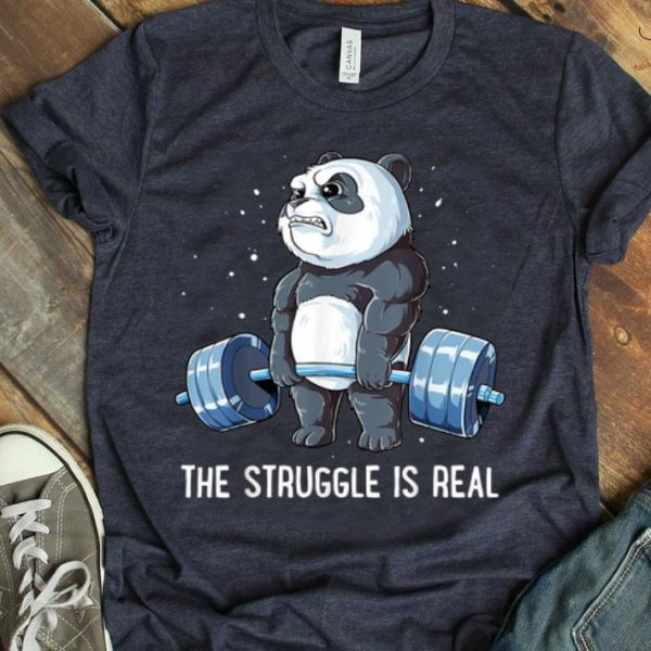 Panda Gyming The Struggle Is Real Bear Deadlift shirt