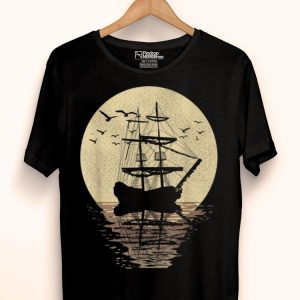 Retro Sailing Boat Wind Ship Ocean Sailor shirt