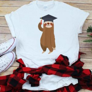 Sloth Graduation Smiling Sloth Graduate Gift shirt