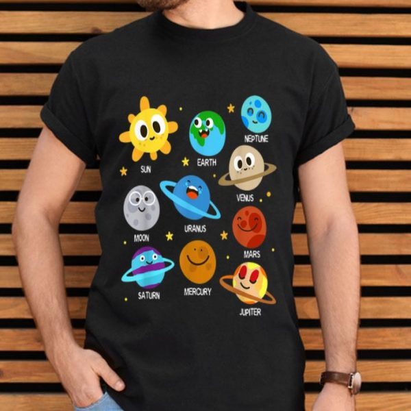 Solar System Planets Astronomy Space Planets Emotion shirt
