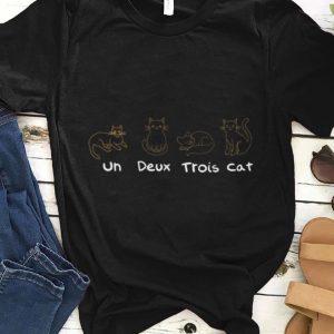 Un Deux Trois Cat French Teacher Cats Lover shirt