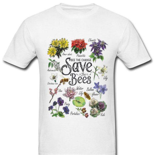 Vintage Botanical Save The Bees Flower shirt