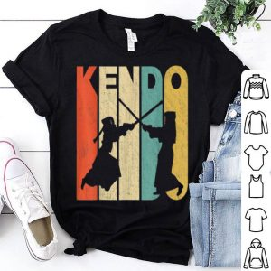 Vintage Retro Kendo Silhouette Kendo Fighter shirt