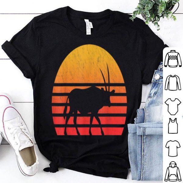Vintage Retro Sunset Oryx Long Horn Hunting shirt