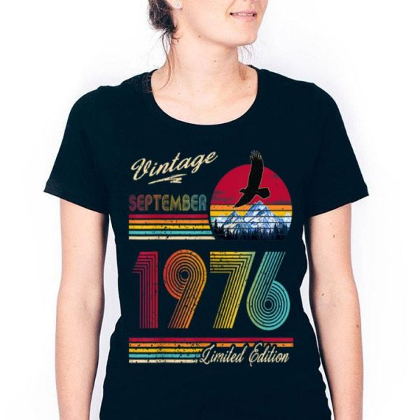 Vintage September 1976 43th Birthday 43 Years Old shirt