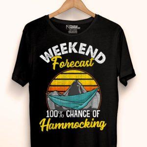 Weekend Forecast 100 Chance Of Hammocking Hammock shirt