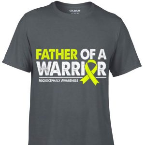 Aweome Father of a Warrior Yellow Ribbon Microcephaly Awareness shirt