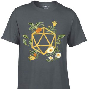 Aweome Geeky Polyhedral D20 Dice Set Plant Nerdy shirt