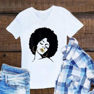Awesome Afro Diva Black Girl Magic Gold Lips shirt