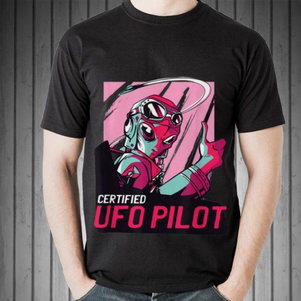 Awesome Alien Certified UFO Pilot Retro shirt