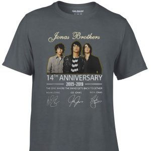 Awesome Jonas Brothers 14th Anniversary Signature shirt