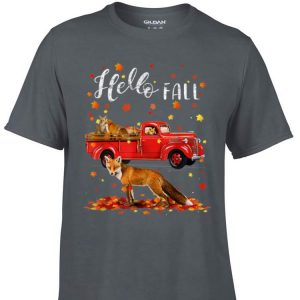 Awesome Maple Fox Leaf Autumn Happy Fall Y'all Red Truck shirt