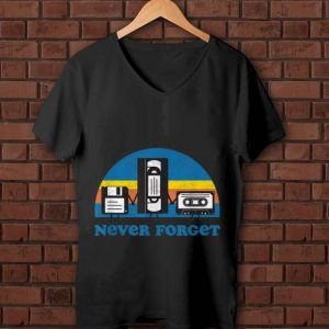 Awesome Never Forget Floppy Disk Cassette Tape shirt