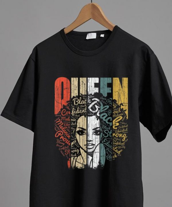 Awesome Vintage African American Queen Educated Strong shirt
