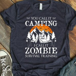 Funny Zombie Survival Training Camping Halloween Costume Gift shirt