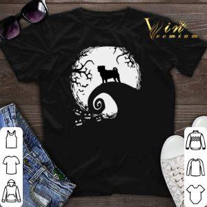 Halloween Pug dog and moon shirt