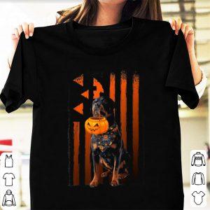 Hot Funny Happy Halloween Rottweiler Dog Pumpkin Costume shirt