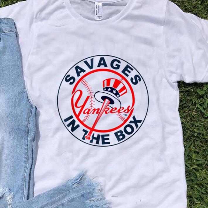 Hot Savages In The Box Yankees Baseball shirt 1 - Hot Savages In The Box Yankees Baseball shirt