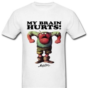 Monty Python Official Gumby My Brain Hurts shirt