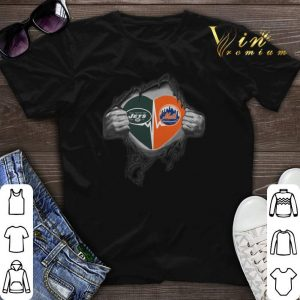 New York Jets New York Mets inside my heart shirt