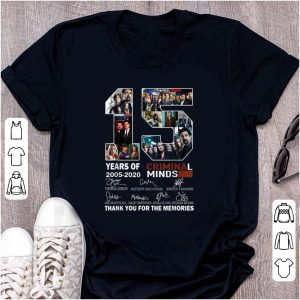 Nice 15 Years Of Criminal Minds Thank You For The Memories Signature shirt