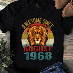 Nice Awesome Since August 1968 Lion Vintage shirt