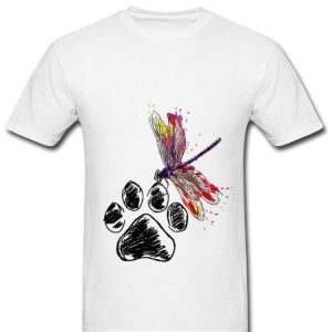 Nice Dragonfly Dog Paw Color shirt
