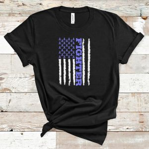 Nice Fighter Cancer Awareness American Flag shirt