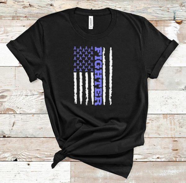 Nice Fighter Cancer Awareness American Flag shirt