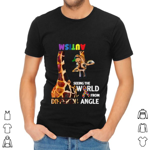 Nice Giraffe Autism Seeing The World From Different Angle Cancer Awareness shirt