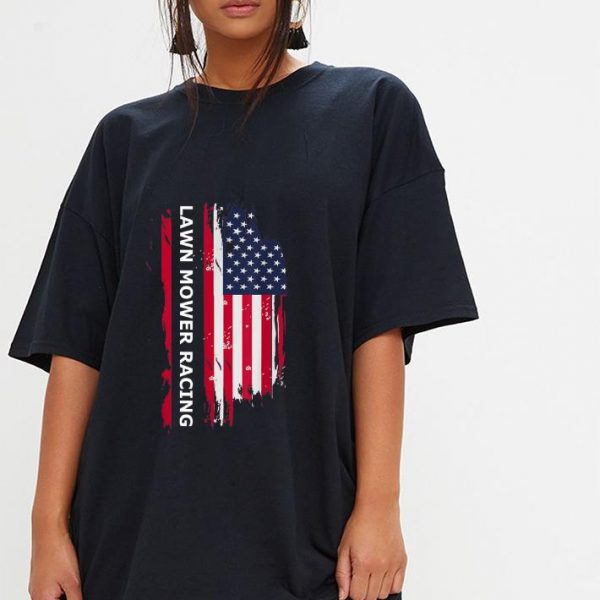 Nice Lawn Mower Racing American Flag shirt