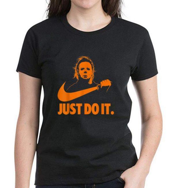 Nice Michael Myers Just Do It Nike Halloween shirt